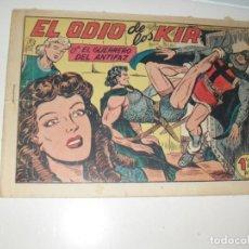 Tebeos: EL GUERRERO DEL ANTIFAZ,ORIGINAL APAISADO Nº 227.EDITORIAL VALENCIANA,AÑO 1944.. Lote 293858743