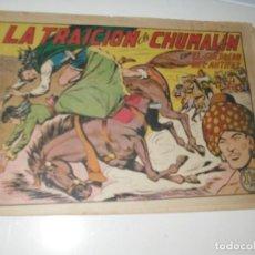 Tebeos: EL GUERRERO DEL ANTIFAZ,ORIGINAL APAISADO Nº 200.EDITORIAL VALENCIANA,AÑO 1944.. Lote 293858838