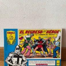 Tebeos: EL REGRESO DEL HÉROE CON EL GUERRERO DEL ANTIFAZ NÚMERO 42. Lote 294052633