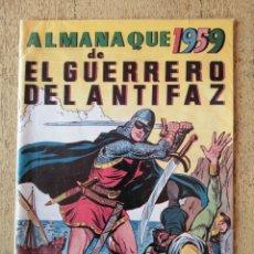 Tebeos: ALMANAQUE 1959, EL GUERRERO DEL ANTIFAZ, REEDICION. Lote 295718818