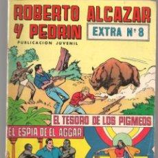 Tebeos: ROBERTO ALCAZAR Y PEDRÍN. EXTRA Nº 8. VALENCIANA, 1976. (P/C25). Lote 295839978