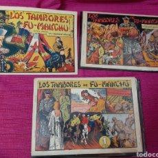 Tebeos: LOS TAMBORES DE FUMANCHU EDIT VALENCIANA COLECCIÓN COMPLETA LOS TRES NÚMEROS, SELECCION AVENTURERA. Lote 295840378
