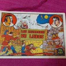 Tebeos: LOS CAZADORES DE LOBOS EDITORIAL VALENCIANA SELECCIÓN AVENTURERA. Lote 295841598