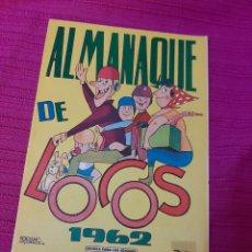 Tebeos: ALMANAQUE DE LOCOS 1962. Lote 295843703
