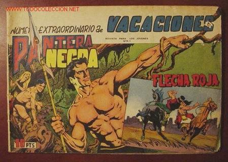 PANTERA NEGRA Y FLECHA ROJA ( MAGA ). EXTRA VACACIONES 1965 (Tebeos y Cómics - Tebeos Extras)