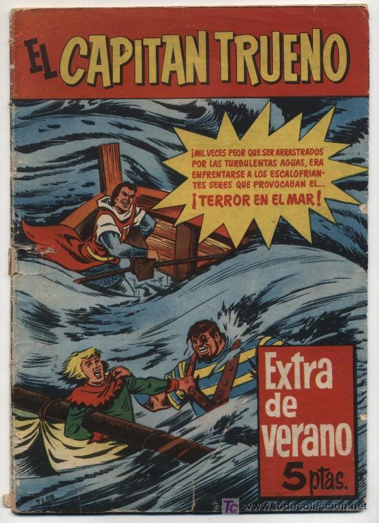 EL CAPITÁN TRUENO.EXTRA DE VERANO (1960). TERROR EN EL MAR. (Tebeos y Cómics - Tebeos Extras)