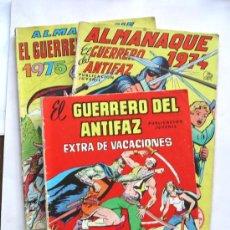 Tebeos: 3 Nº EL GUERRERO DEL ANTIFAZ, ALMANAQUES AÑOS 74, 75 Y EXTRA VACACIONES 77. Lote 26444911