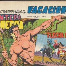 Tebeos: PANTERA NEGRA Y FLECHA ROJA. EXTRAORDINARIO DE VACACIONES.. Lote 23509232