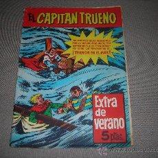 Tebeos: (M-1) EL CAPITAN TRUENO EXTRA DE VERANO 1958 - SEÑALES DE USO CON ROTURITAS EN EL LOMO. Lote 29062553