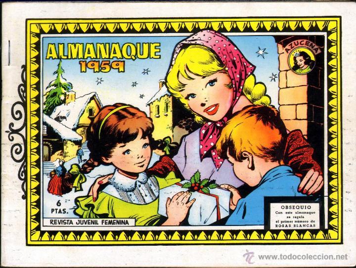 TEBEOS-COMICS GOYO - AZUCENA - Nº ALMANAQUE 1959 - EXTRAORDINARIO - 1958 - *AA99 (Tebeos y Cómics - Tebeos Extras)