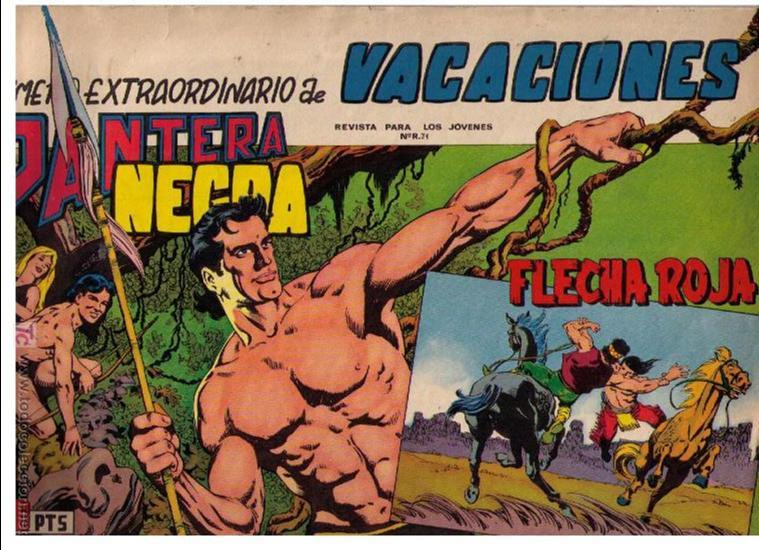 PANTERA NEGRA Y FLECHA ROJA.EXTRAORDINARIO DE VACACIONES (Tebeos y Cómics - Tebeos Extras)