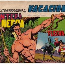 Tebeos: PANTERA NEGRA Y FLECHA ROJA.EXTRAORDINARIO DE VACACIONES. Lote 27595830