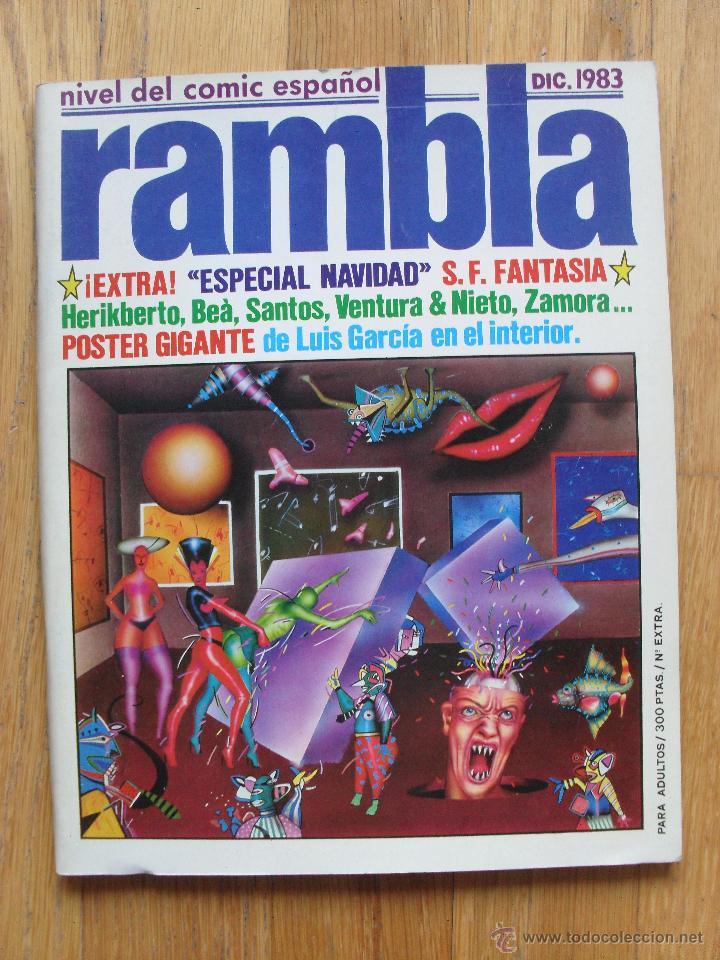 RAMBLA EXTRA, DICIEMBRE 1983, CON SU POSTER (Tebeos y Cómics - Tebeos Extras)