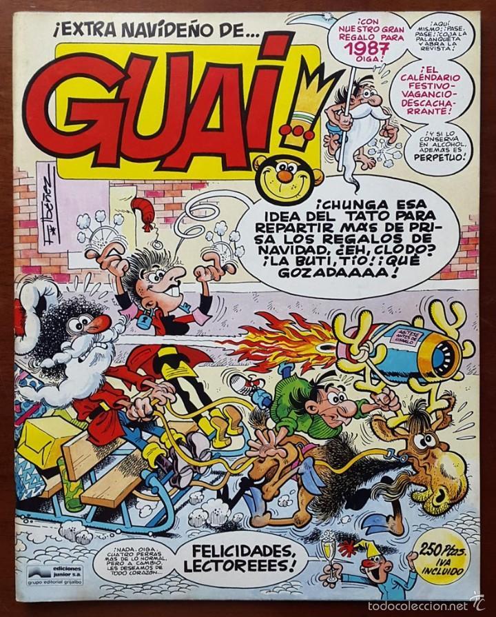 REVISTA GUAI!: EXTRA NAVIDEÑO 1987. POSTER CALENDARIO 1987 (Tebeos y Cómics - Tebeos Extras)