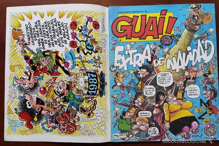 Tebeos: Revista Guai!: Extra Navideño 1987. poster calendario 1987 - Foto 2 - 61354067