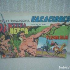 Tebeos: PANTERA NEGRA Y FLECHA ROJA NÚMERO EXTRAORDINARIO DE VACACIONES 1965. Lote 72035219