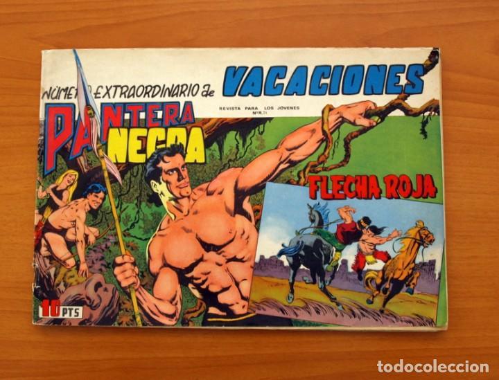 EXTRAORDINARIO DE VACACIONES PANTERA NEGRA Y FLECHA ROJA 1965 - EDITORIAL MAGA (Tebeos y Cómics - Tebeos Extras)