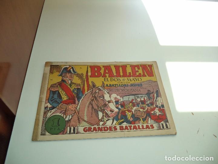 BAILEN, EL DOS DE MAYO, AÑO 1.943. Nº 3. ORIGINAL METROPOLITANA EDICIONES GRANDES BATALLAS. (Tebeos y Cómics - Tebeos Extras)