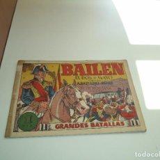 Tebeos: BAILEN, EL DOS DE MAYO, AÑO 1.943. Nº 1. ORIGINAL METROPOLITANA EDICIONES GRANDES BATALLAS.. Lote 109538231
