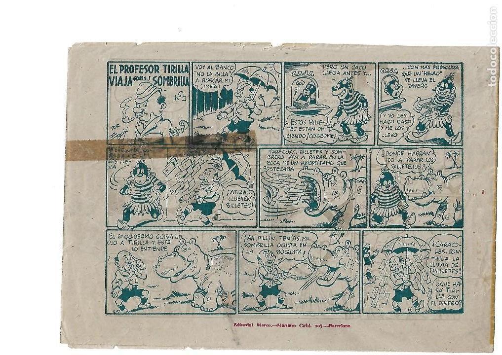 Tebeos: El Capitán Enigma, Año 1.946. Nº 3. El Ataque a la Isla. Original Dibujante E. Boix Editorial Marco - Foto 2 - 116360279