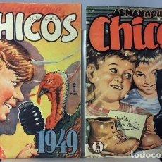 Tebeos: 2 ALMANAQUES CHICOS (1949 Y 1950) J. BLASCO, E. FREIXAS, ETC. . Lote 117785091