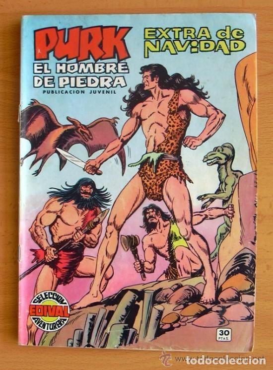 PURK EL HOMBRE DE PIEDRA - EXTRA DE NAVIDAD 1974 - EDITORIAL VALENCIANA (Tebeos y Cómics - Tebeos Extras)