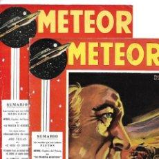 Tebeos: METEOR AÑO 1955 COLECCIÓN COMPLETA SON 2 TEBEOS ORIGINALES DIBUJOS FRANCISCO BLANES EDICIONES MANDO. Lote 132969826