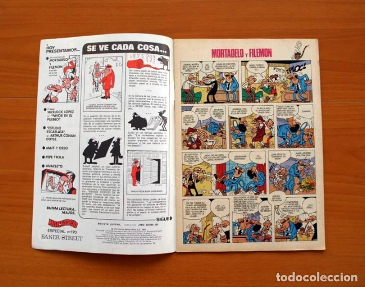 Tebeos: Mortadelo Especial, Baker Street, nº 170 - Editorial Bruguera 1978 - Foto 2 - 138019122