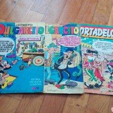 Tebeos: LOTE 3 REVISTAS SÚPER PULGARCITO Y MORTADELO EDICIONES B REVISTA JUVENIL BRUGUERA EXTRA CÓMICS TEBEO. Lote 139938933