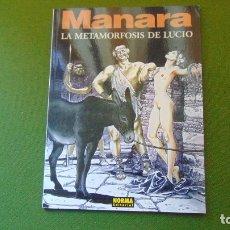 Tebeos: LA METAMORFOSIS DE LUCIO (MILO MANARA). Lote 175782293