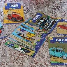 Tebeos: LOTE DE 35 REVISTILLAS O FASCÍCULOS DE LOS COCHES DE TINTÍN, PLANETA, BARCELONA, 2004. Lote 181771951