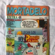 Tebeos: MORTADELO EXTRA Nº 48 CON REGALO KINDER 10 PINGUI PLAYA 10 ADHESIVOS - PRECINTADO- SIN USO CON SU PR. Lote 183201321