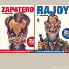 Tebeos: EL JUEVES EXTRA. ZAPATERO. RAJOY Y COMPAÑIA. ES UN NUMERO CON 2 PORTADAS. Lote 194263656