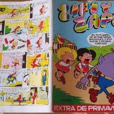Tebeos: ZIPI Y ZAPE EXTRA DE PRIMAVERA 1973 CON POSTER DE ZIPI Y ZAPE ESCOBAR BRUGUERA MBE. Lote 195031438