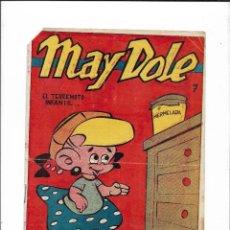 Tebeos: MAY DOLE, EL TERREMOTO INFANTIL Nº 7. AÑO 1954. ES ORIGINAL DIBUJOS DE TUNET VILA.. Lote 196538736