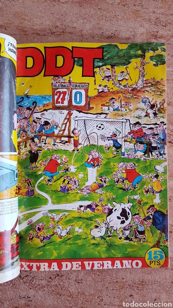 Tebeos: Tomo de tebeos tio vivo DDT Din Dan Pulgarcito Mortadelo Bruguera años 60 70 - Foto 3 - 214922536