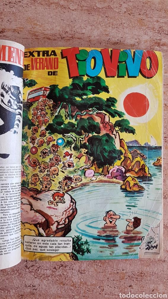 Tebeos: Tomo de tebeos tio vivo DDT Din Dan Pulgarcito Mortadelo Bruguera años 60 70 - Foto 4 - 214922536