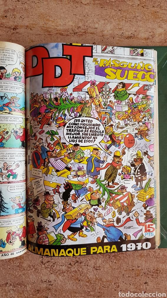 Tebeos: Tomo de tebeos tio vivo DDT Din Dan Pulgarcito Mortadelo Bruguera años 60 70 - Foto 11 - 214922536