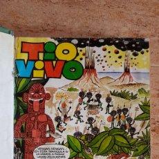 Tebeos: TOMO DE TEBEOS TIO VIVO DDT DIN DAN PULGARCITO MORTADELO BRUGUERA AÑOS 60 70. Lote 214922536