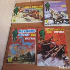Tebeos: LOTE 4 COMICS ANTIGUOS HAZAÑAS BELICAS. Lote 225550846