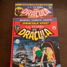 Tebeos: LA TUMBA DE DRACULA VOL.1 Y 2 - DRACULA VIVE - BIBLIOTECA DRACULA -. Lote 226221615
