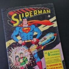Tebeos: MUY BUEN ESTADO EL ORIGEN DE SUPERMAN 6 MEJORES AVENTURAS DITORIAL VALENCIANA. Lote 250341400