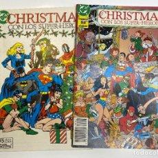 Tebeos: RAROS TEBEOS ESPECIALES CHRISTMAS CON LOS SUPER-HÉROES Nº 1 Y Nº 2 (1989). Lote 260402370