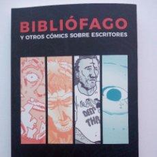 Tebeos: BIBLIÓFAGO - AUSTER - BUKOWSKI - BRADBURY - SALINGER - EDICIÓN LIMITADA 78/101 - DEDICADO. Lote 291950188