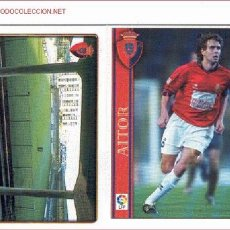 Trading Cards: 9 TRADING CARDS C. AT. OSASUNA (LFP AÑO 2001). Lote 22046687