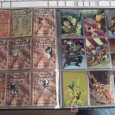 Trading Cards: LOTE 46 CARD`S, DE 90, DE CONAN II ALL CHROMIUM+2 PAREJAS ESPECIALES.TODAS CON EFECTO BRILLO.LOTES.. Lote 27201650