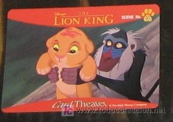Walt Disney Sega Japan El Rey Leon The Lion King Trading Card Japonesa Nº 3