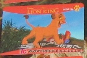 Walt Disney Sega Japan El Rey Leon The Lion King Trading Card Japonesa Nº 6