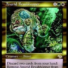 Trading Cards: MTG 4X SALTAMALEZA ANURO - ANURID BRUSHHOPPER . JUICIO. Lote 26860043