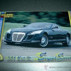 Trading Cards: CARD COCHE MAYBACH EXELERO Nº 353 COLECCION DREAM CARS MUNDICROMO SPORT CROMOS . Lote 28993349